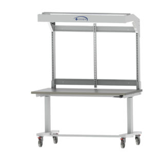 60'' W x 36'' D Manual height-adjustable Workstation-(Cat.#HTC6036)