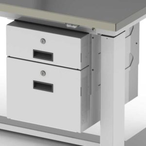 Hanging Drawers with Locks, Workstation Accessory-(Cat.#HTAHD)