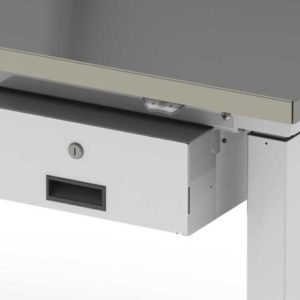 Small Hanging Drawer with Lock, Workstation Accessory-(Cat.#HTASDK)