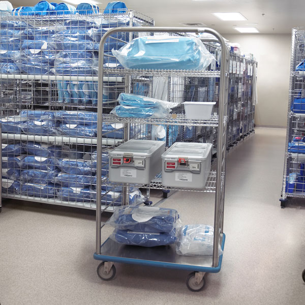 Open Case Cart In Use